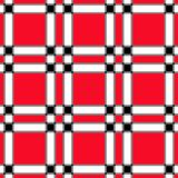 Blocco bianco nero rosso Fotografie Stock