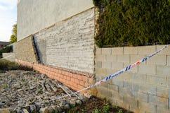 Blocco crollato di parete Immagini Stock Libere da Diritti