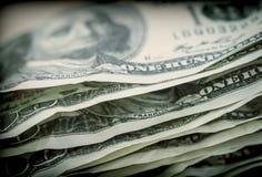 Blocco di biglietti per 100 dollari Fotografia Stock Libera da Diritti