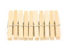 Blocco di clothespins Immagini Stock Libere da Diritti