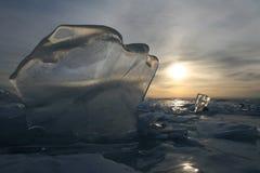 Blocco di ghiaccio fotografia stock