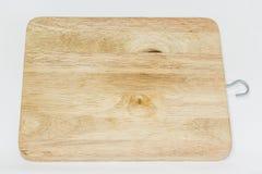 Blocco di legno su Backgound bianco Fotografia Stock Libera da Diritti