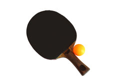 Blocco e sfera di ping-pong Immagine Stock Libera da Diritti