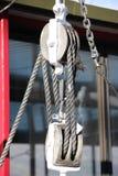 Blocco ed attrezzatura con la corda Fotografia Stock Libera da Diritti
