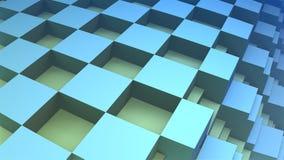 blocco geometrico blu 3D Fotografia Stock Libera da Diritti