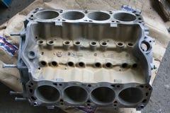 Blocco motore di V8 del mustang Fotografie Stock