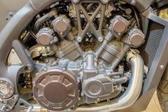 Blocco motore moderno del motociclo Immagini Stock Libere da Diritti