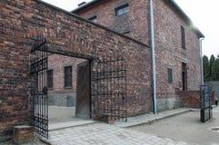 Blocco 11 nel campo di concentramento di Auschwitz Fotografie Stock