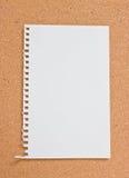 Blocco note in bianco. Fotografia Stock Libera da Diritti