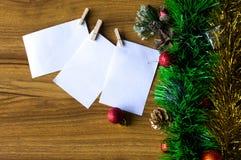 Blocco note bianco Nuovo anno felice Immagini Stock Libere da Diritti