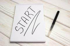 Blocco note in bianco per schizzare Fotografia Stock