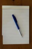 Blocco note e penna Fotografia Stock Libera da Diritti