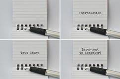 Blocco note e una penna Immagini Stock Libere da Diritti