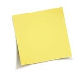Blocco note giallo del bastone Immagini Stock