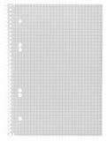 Blocco note a spirale di carta a quadretti vuoto Immagine Stock