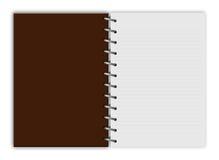 Blocco note vuoto & x28; notebook& x29; isolato immagine stock