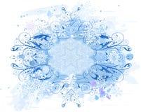 Blocco per grafici & fiocchi di neve dell'annata illustrazione vettoriale