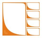 Blocco per grafici arancione Immagine Stock