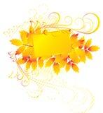 Blocco per grafici arancione Fotografia Stock