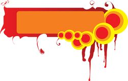 Blocco per grafici astratto - cielo o inferno? Fotografia Stock Libera da Diritti