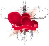 Blocco per grafici astratto dei biglietti di S. Valentino, vettore royalty illustrazione gratis