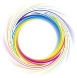 Blocco per grafici astratto dello spettro del Rainbow Immagini Stock