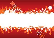 Blocco per grafici astratto di natale con i fiocchi di neve illustrazione di stock