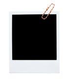 Blocco per grafici in bianco del polaroid immagini stock libere da diritti