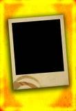 Blocco per grafici in bianco della foto con macchia fotografia stock