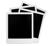 Blocco per grafici in bianco della foto del polaroid Immagini Stock