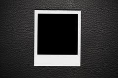 Blocco per grafici in bianco della foto del Polaroid Fotografia Stock