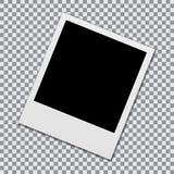 Blocco per grafici in bianco della foto del Polaroid illustrazione vettoriale