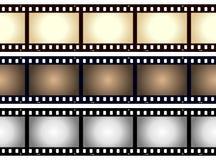 Blocco per grafici in bianco della striscia della pellicola dell'annata Fotografia Stock