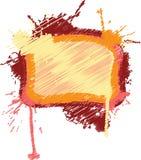 Blocco per grafici in bianco dello scarabocchio Fotografie Stock