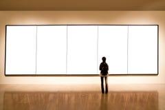Blocco per grafici in bianco in galleria di arte Immagini Stock Libere da Diritti
