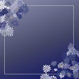 Blocco per grafici blu del pensionante del fiore Immagini Stock