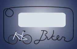 Blocco per grafici blu scuro del motociclista Immagini Stock