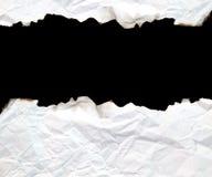 Blocco per grafici bruciato del documento del bordo Fotografia Stock Libera da Diritti