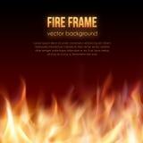 Blocco per grafici Burning Fondo ardente di vettore Fotografia Stock Libera da Diritti