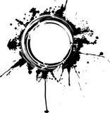 Blocco per grafici circolare del grunge. Fotografie Stock