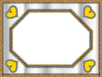Blocco per grafici classico con figura del cuore illustrazione di stock