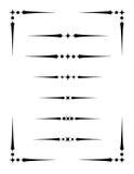 Blocco per grafici con i divisori 2 del testo Fotografia Stock