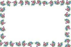 Blocco per grafici con le farfalle Immagini Stock