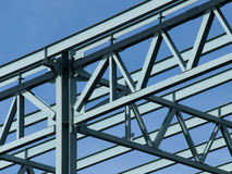 Blocco per grafici d'acciaio della costruzione Fotografie Stock Libere da Diritti