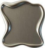 Blocco per grafici d'acciaio spazzolato Immagine Stock Libera da Diritti