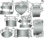 Blocco per grafici d'argento Fotografie Stock Libere da Diritti