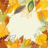 Blocco per grafici d'autunno Immagini Stock
