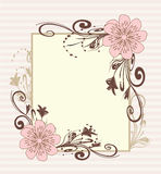 Blocco per grafici decorativo dell'annata Vettore Immagine Stock
