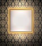 Blocco per grafici decorativo dell'oro Fotografia Stock