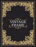 Blocco per grafici decorativo dell'oro Cartolina d'auguri nel grunge o nel retro stile Ornamento intrecciato dell'annata di vetto illustrazione vettoriale